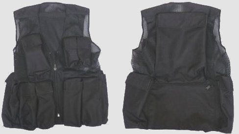 Front and back of the TMD medic's waistcoat